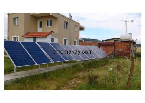 Solar power. Wind power